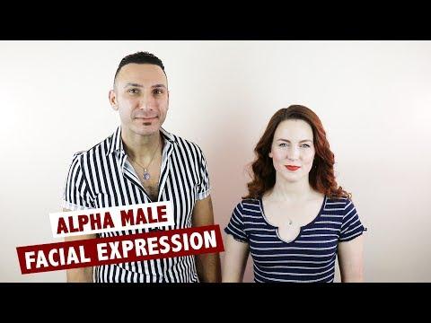 Alpha male facial expression