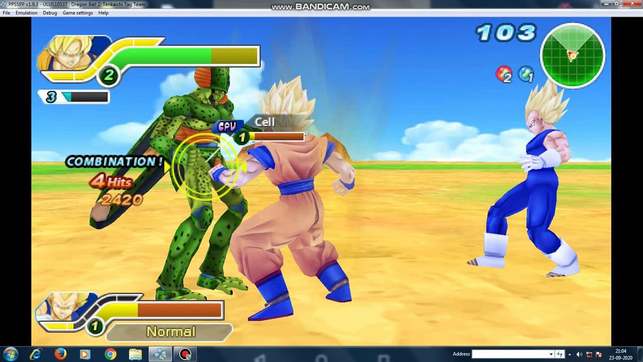 Dragon Ball Z Tenkaichi Tag Team Pc Ppsspp Gameplay Goku Vegetation Vs Cell Youtube