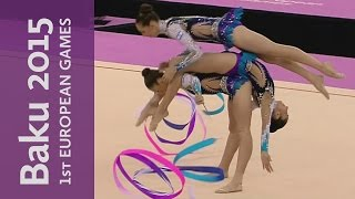 Russia win by quite a margin in the Group Ribbon Final | Gymnastics Rhythmic | Baku 2015