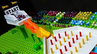 Epic MARBLE RACE TOURNAMENT - Obstacles to get points - World Grand Prix 2018