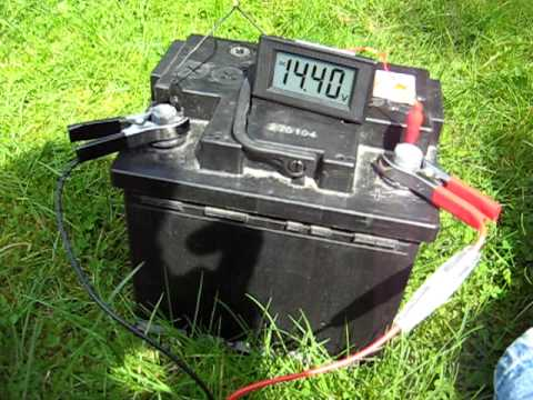 Charging A Car Battery With A Solar Panel And Charge