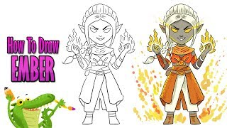 how to draw ember skin fortnite season 8