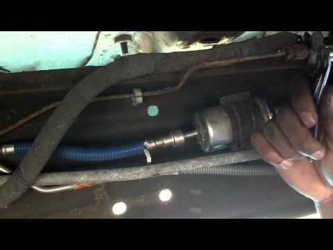 how to change your fuel filter in a ford youtube. Black Bedroom Furniture Sets. Home Design Ideas