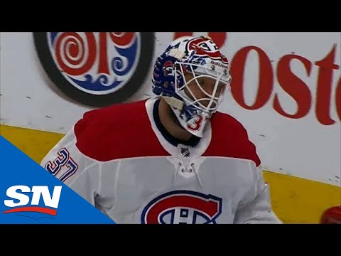 Antti Niemi Accidentally Deflects The Puck Into His Own Net After Awkward Bounce