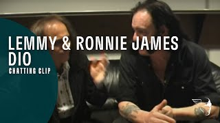 Lemmy and Ronnie James Dio chatting