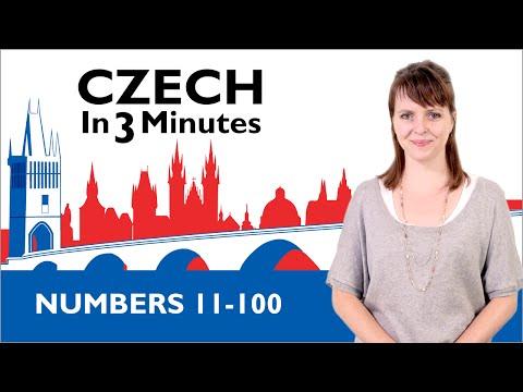 Learn Czech - Numbers 11-100 - Czech in Three Minutes