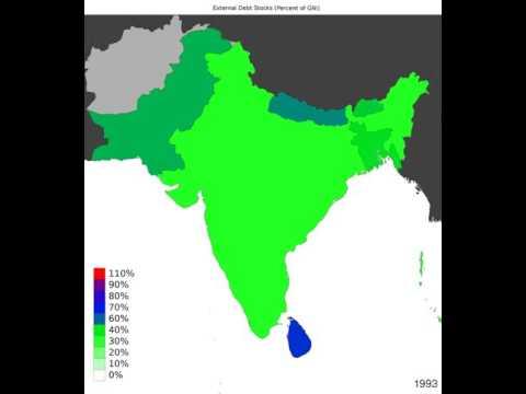 South Asia - External Debt Stocks - Timelapse