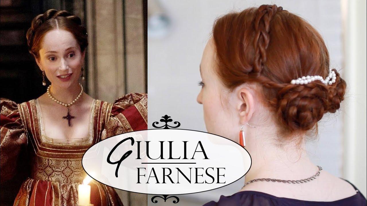 The Borgias Hair Tutorial Giulia Farnese Youtube