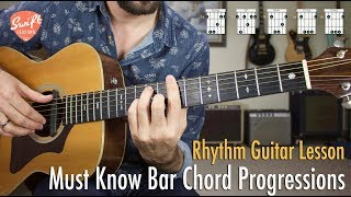 Must Know Bar Ch๐rd Progressions for Guitar!