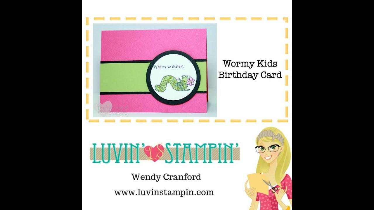Worm Wishes Kids Birthday Card