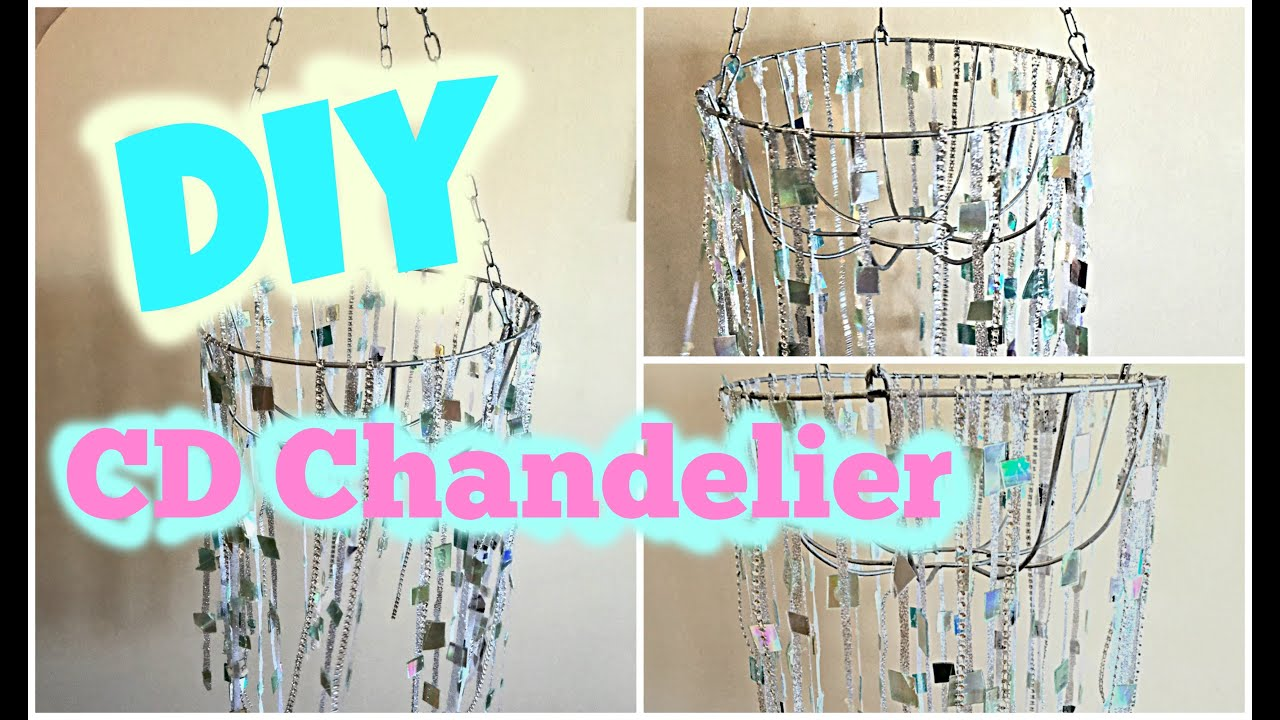 DIY Chandelier How to Make a Chandelier from Old CDs