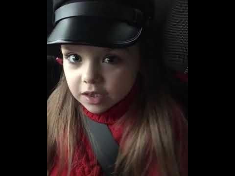 Anna knyazeva sing song in car .