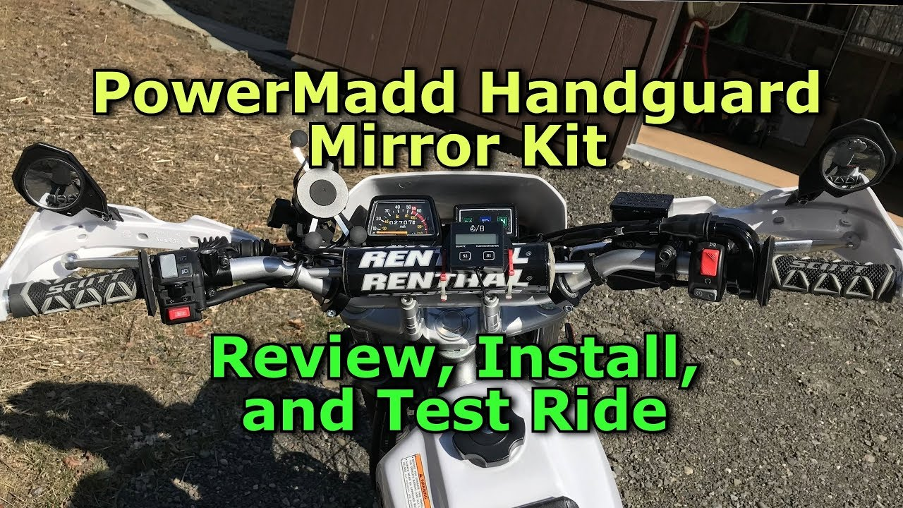 TW200 Update: Powermadd Handguard Mirror - Review, Install, and Test Ride