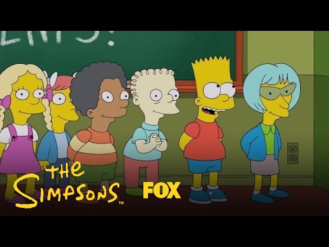 Thumbnail: Bart Gets In Trouble For Making Up Lyrics To The Class Song | Season 28 Ep. 19 | THE SIMPSONS