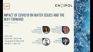 Impact of COVID19 on water issues and the way forward- A Round-table conversation