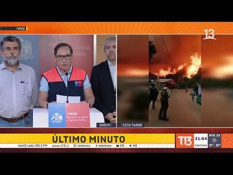 Incendio Valparaíso: Al Menos 100 Casas Afectadas Según Balance De Onemi