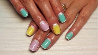 Дизайн ногтей гель-лак shellac - Лунный маникюр, Френч (видео уроки дизайна ногтей)