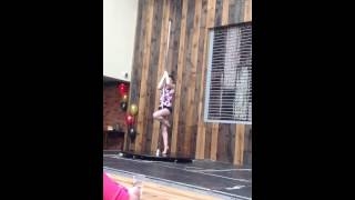 Welsh Dragon Pole Competition 2015 - Beginner Jessica Worthington - SUPFC 3rd place