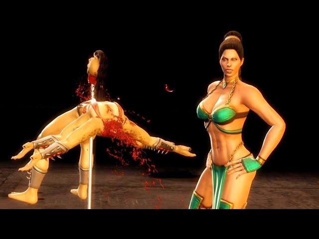 Mortal Kombat 9 - Jade Half Mast Fatality on all Characters