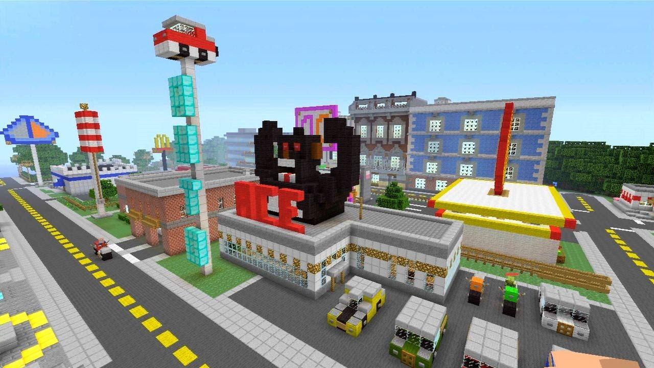 Minecraft xbox 360 modern city spanklechank 39 s world for Minecraft big modern house tour