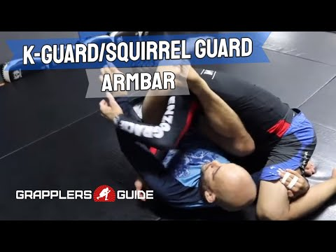 Aaron Milam - K-Guard/Squirrel Guard Armbar When Opponent Grabs Your Foot