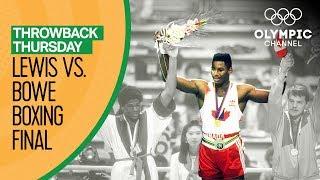 Lennox Lewis Gold Medal Match vs Riddick Bowe   Boxing Seoul 1988  Throwback Thursday