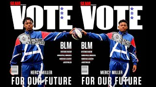 Hercy and Mercy Miller High school Basketball Stars encourage People to Vote.