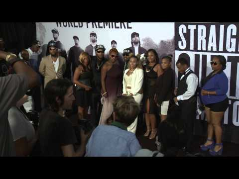 Straight Outta Compton: Dr. Dre Arrives to the Red Carpet Premiere