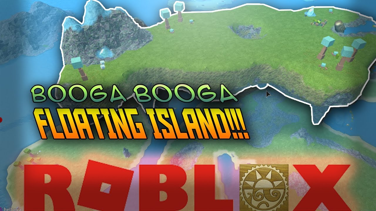 How To Reach The Floating Island In Booga Booga Roblox Youtube