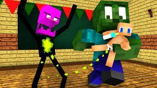 Monster School : BABYSITTER and Christmas - Minecraft Animation