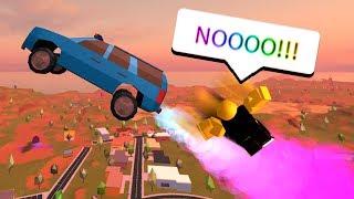 KICKING PEOPLE OUT OF CAR PRANK! (Roblox Jailbreak)