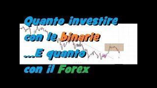 Quanto investire sulle Binarie o sul forex - 11 feb 2019