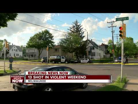 13 people shot, 3 killed in 10 separate shooting incidents in Milwaukee
