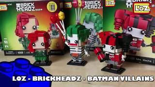 Bootlego: LOZ -  Batman Villains Brickheadz (Joker, Harley & Poison Ivy) | Adults Like Toys Too