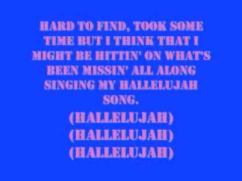 Julianne Hough Hallelujah Song With Lyrics