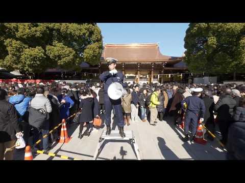 【4K】Meiji-jingu hatsumode (new year visit)