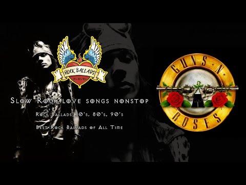 Slow Rock love songs nonstop - Rock Ballads 70's, 80's, 90's - Best Rock Ballads of All Time