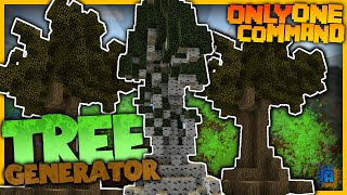 Minecraft - Tree Generator in one command! | Instant Birches, Ice and more trees!