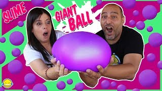 DIY GIANT SLIME STRESS BALL Super Soft & Squishy Pelota Gigante de Slime Anti Estrés Bego y Jordi