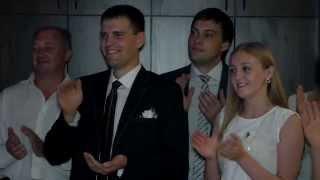 Зажигательный танец невесты и свекра))