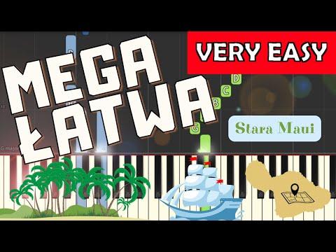 🎹 Stara Maui (szanty) - Piano Tutorial (MEGA ŁATWA wersja) 🎹