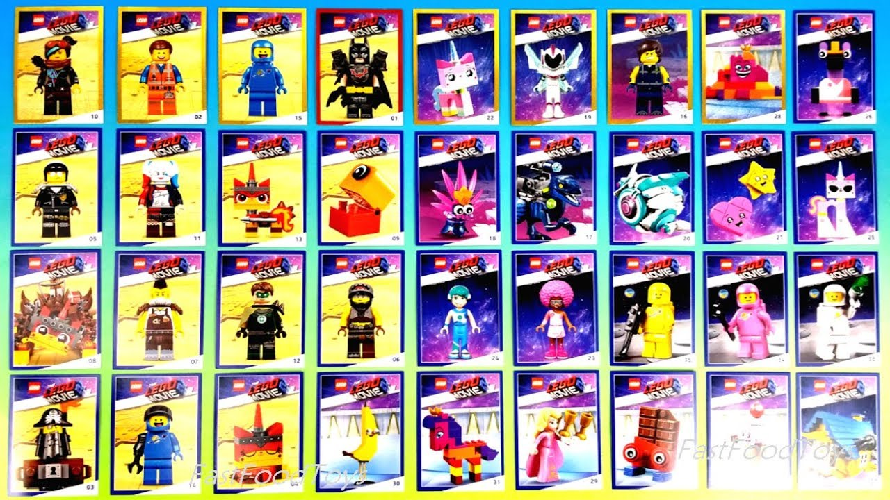 2019 Lego Movie 2 Characters Trading Cards Full Set 36 Collector