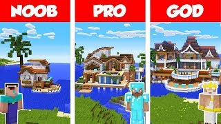 minecraft-noob-vs-pro-vs-god-tropical-house-on-water-build-challenge-in-minecraft-animation