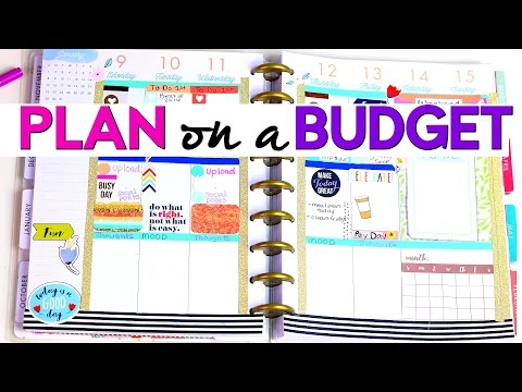 PLAN WITH ME | DOLLAR TREE & TARGET $1 SPOT PLANNER SUPPLIES | Sensational Finds