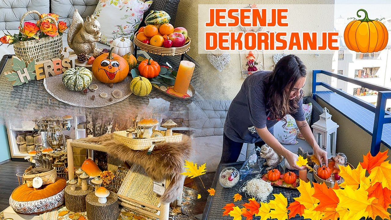 Download VLOG   Kupovina jesenjih dekoracija i dekorisanje balkona 🍁