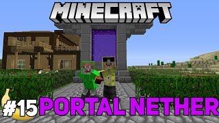 MEMBUAT NETHER PORTAL 17AN - SURVIVAL MOD #15