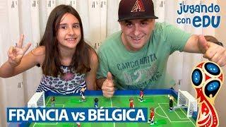 Partido Francia vs Bélgica con Playmobil. SEMIFINAL MUNDIAL RUSIA 2018