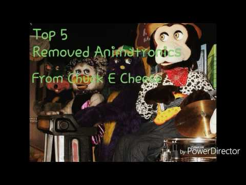 Top 5 removed animatronics from Chuck E Cheese