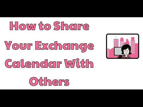How to share your Exchange calendar with others