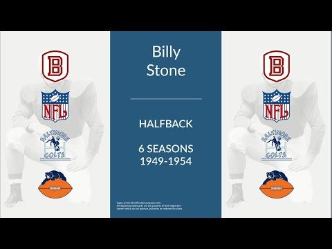 Billy Stone: Football Halfback and Defensive Back